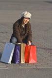 Joy of shopping Stock Images