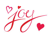 JOY sign with hearts Royalty Free Stock Photography