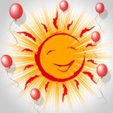 Joy Smile Represents Fun Smiling y Sun Imágenes de archivo libres de regalías