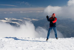 Joy for snow Stock Images