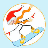 Joy snowboarder. Stock Photos