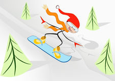 Joy snowboarder. Royalty Free Stock Photos