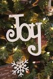 Joy and Snowflake Ornament Royalty Free Stock Image