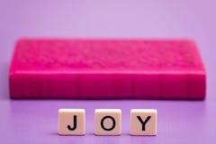 Joy Spelled Out Foto de archivo