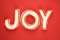 Joy sugar cookies. Stock Photo