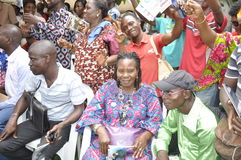 JOY OF SUPPORTERS OF PRESIDENT LAURENT GBAGBO Royalty Free Stock Image