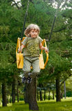 Joy swing. boy Stock Image