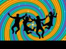 Joy Swirl Represents Happiness Joyful och ungar royaltyfri illustrationer