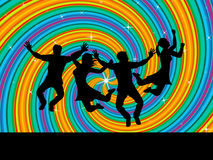 Joy Swirl Represents Happiness Joyful y jóvenes Imagenes de archivo