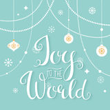 Joy to the World. Hand Lettering Sign Stock Photo