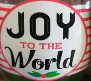 Joy to the world. Image in a cup stock images