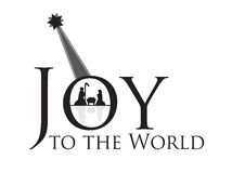 Joy to the World Nativity Scene Stock Photography