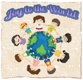 A joy to the world template Royalty Free Stock Photos
