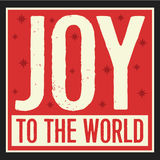 Joy to the World Vintage Christian Christmas Card royalty free illustration