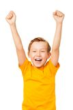 Joy of victory Stock Image