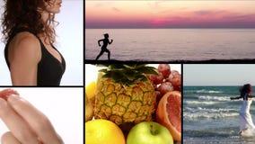 Joy, vitamins, fitness and beauty stock footage