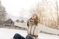 Joy of winter Royalty Free Stock Photo