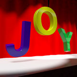 Joy Word On Stage Stock Image