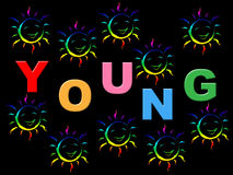 Joy Young Represents Children Youngsters And Joyful. Young Kids Meaning Toddlers Joy And Youngster Royalty Free Stock Photo
