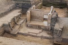 Joya de Ceren archaeological site, El Salvad. Or royalty free stock photography
