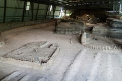 Joya de Ceren archaeological site, El Salvad. Or royalty free stock photo