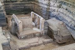 Joya De Ceren archeologiczny miejsce, El Salvad obrazy stock