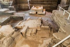 Joya De Ceren archeologiczny miejsce, El Salvad zdjęcie stock