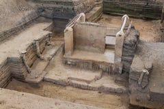 Joya DE Ceren archeologische plaats, Gr Salvad royalty-vrije stock fotografie