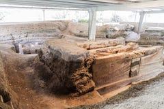 Joya DE Ceren archeologische plaats, Gr Salvad royalty-vrije stock foto's