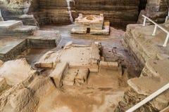 Joya DE Ceren archeologische plaats, Gr Salvad stock foto