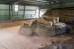 Joya DE Ceren archeologische plaats, Gr Salvad royalty-vrije stock afbeeldingen
