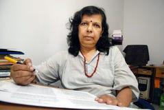 Joya Mitra-Famous writer. Royalty Free Stock Image