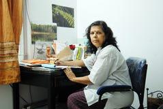 Joya Mitra-Famous writer. Royalty Free Stock Images