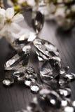 Joya natural - diamante Foto de archivo libre de regalías