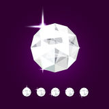 Joya realista del diamante Ejemplo de la gema del vector ilustración del vector