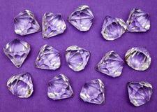 Joyas contra púrpura Foto de archivo