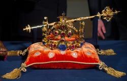 Joyas de la corona checas fotos de archivo