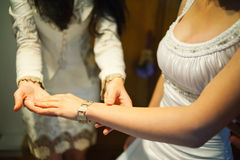 Joyas de la novia Imagen de archivo libre de regalías