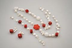 Joyas de plata con las piedras preciosas foto de archivo libre de regalías