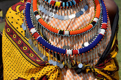 Joyas del Masai foto de archivo