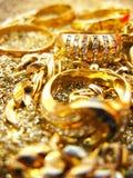 Joyas del oro Foto de archivo libre de regalías