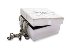 Joyas en una caja foto de archivo libre de regalías