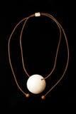 Joyería étnica de la joyería del collar de Brown Imagen de archivo libre de regalías