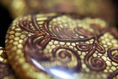 Joyería étnica de la joyería del collar de Brown Imagen de archivo