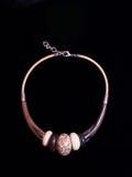 Joyería étnica de la joyería del collar de Brown Fotografía de archivo libre de regalías