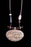 Joyería étnica de la joyería del collar de Brown Fotos de archivo