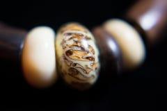 Joyería étnica de la joyería del collar de Brown Imagenes de archivo