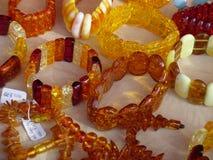 Joyería ambarina Imagen de archivo libre de regalías