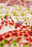 Joyería colorida en la exhibición para Fotografía de archivo