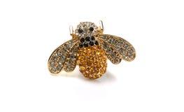Joyería de la abeja con las piedras Fotos de archivo libres de regalías